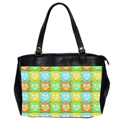 Colorful Happy Easter Theme Pattern Office Handbags (2 Sides)  by dflcprints