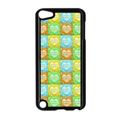 Colorful Happy Easter Theme Pattern Apple Ipod Touch 5 Case (black) by dflcprints