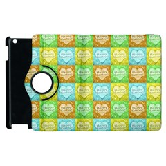Colorful Happy Easter Theme Pattern Apple Ipad 3/4 Flip 360 Case by dflcprints