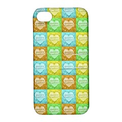 Colorful Happy Easter Theme Pattern Apple Iphone 4/4s Hardshell Case With Stand by dflcprints