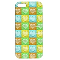 Colorful Happy Easter Theme Pattern Apple Iphone 5 Hardshell Case With Stand by dflcprints