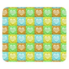 Colorful Happy Easter Theme Pattern Double Sided Flano Blanket (small)  by dflcprints