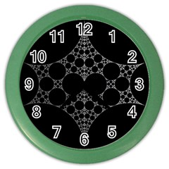 Drawing Of A White Spindle On Black Color Wall Clocks by Nexatart