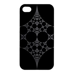 Drawing Of A White Spindle On Black Apple Iphone 4/4s Hardshell Case by Nexatart