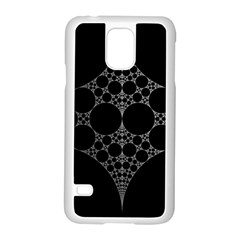Drawing Of A White Spindle On Black Samsung Galaxy S5 Case (white) by Nexatart
