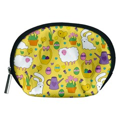 Cute Easter Pattern Accessory Pouches (medium)  by Valentinaart