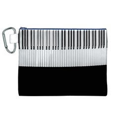 Piano Keys On The Black Background Canvas Cosmetic Bag (xl)