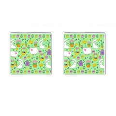 Cute Easter Pattern Cufflinks (square) by Valentinaart