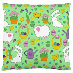 Cute Easter Pattern Large Cushion Case (two Sides) by Valentinaart