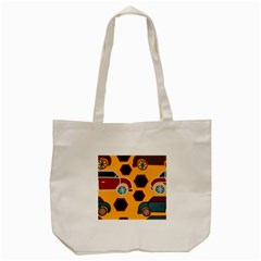 Husbands Cars Autos Pattern On A Yellow Background Tote Bag (cream) by Nexatart