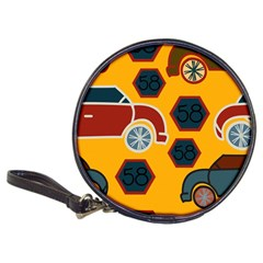 Husbands Cars Autos Pattern On A Yellow Background Classic 20 Cd Wallets by Nexatart
