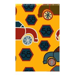 Husbands Cars Autos Pattern On A Yellow Background Shower Curtain 48  X 72  (small)  by Nexatart