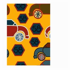 Husbands Cars Autos Pattern On A Yellow Background Large Garden Flag (two Sides) by Nexatart