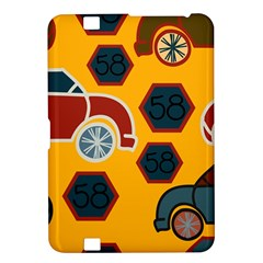 Husbands Cars Autos Pattern On A Yellow Background Kindle Fire Hd 8 9  by Nexatart