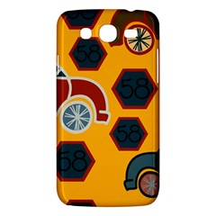 Husbands Cars Autos Pattern On A Yellow Background Samsung Galaxy Mega 5 8 I9152 Hardshell Case  by Nexatart