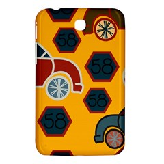 Husbands Cars Autos Pattern On A Yellow Background Samsung Galaxy Tab 3 (7 ) P3200 Hardshell Case  by Nexatart