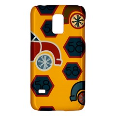 Husbands Cars Autos Pattern On A Yellow Background Galaxy S5 Mini by Nexatart