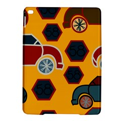 Husbands Cars Autos Pattern On A Yellow Background Ipad Air 2 Hardshell Cases by Nexatart