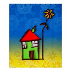 Colorful Illustration Of A Doodle House Shower Curtain 60  X 72  (medium)  by Nexatart
