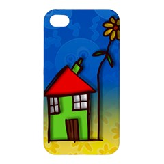 Colorful Illustration Of A Doodle House Apple Iphone 4/4s Premium Hardshell Case by Nexatart