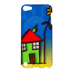 Colorful Illustration Of A Doodle House Apple Ipod Touch 5 Hardshell Case by Nexatart