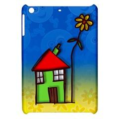Colorful Illustration Of A Doodle House Apple Ipad Mini Hardshell Case by Nexatart