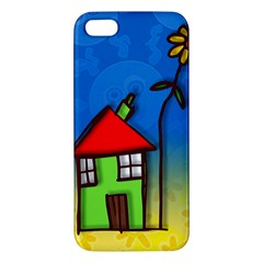 Colorful Illustration Of A Doodle House Iphone 5s/ Se Premium Hardshell Case by Nexatart