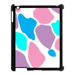 Baby Pink Girl Party Pattern Colorful Background Art Digital Apple Ipad 3/4 Case (black) by Nexatart