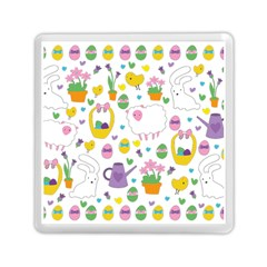Cute Easter Pattern Memory Card Reader (square)  by Valentinaart