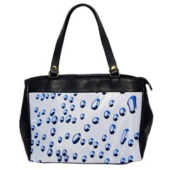 Water Drops On White Background Office Handbags by Nexatart