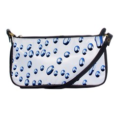Water Drops On White Background Shoulder Clutch Bags by Nexatart