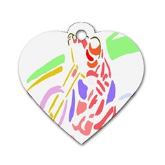 Motorcycle Racing The Slip Motorcycle Dog Tag Heart (two Sides) by Nexatart