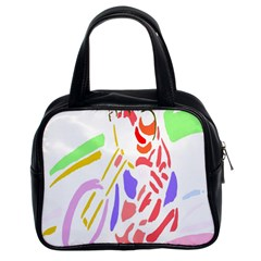 Motorcycle Racing The Slip Motorcycle Classic Handbags (2 Sides) by Nexatart