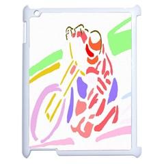 Motorcycle Racing The Slip Motorcycle Apple Ipad 2 Case (white) by Nexatart