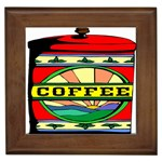 Coffee Tin A Classic Illustration Framed Tiles
