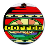 Coffee Tin A Classic Illustration Round Mousepads