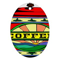 Coffee Tin A Classic Illustration Ornament (oval) by Nexatart