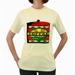 Coffee Tin A Classic Illustration Women s Yellow T-Shirt