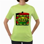 Coffee Tin A Classic Illustration Women s Green T-Shirt