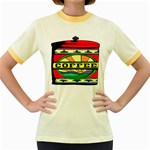 Coffee Tin A Classic Illustration Women s Fitted Ringer T-Shirts