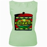 Coffee Tin A Classic Illustration Women s Green Tank Top