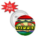 Coffee Tin A Classic Illustration 1.75  Buttons (100 pack)