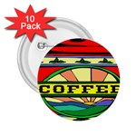 Coffee Tin A Classic Illustration 2.25  Buttons (10 pack)