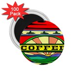 Coffee Tin A Classic Illustration 2.25  Magnets (100 pack)