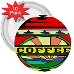 Coffee Tin A Classic Illustration 3  Buttons (10 pack)