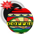 Coffee Tin A Classic Illustration 3  Magnets (10 pack)