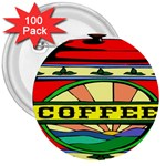 Coffee Tin A Classic Illustration 3  Buttons (100 pack)