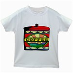 Coffee Tin A Classic Illustration Kids White T-Shirts