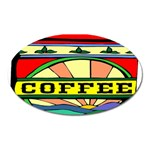 Coffee Tin A Classic Illustration Oval Magnet