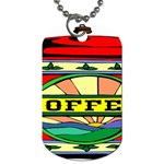 Coffee Tin A Classic Illustration Dog Tag (One Side)